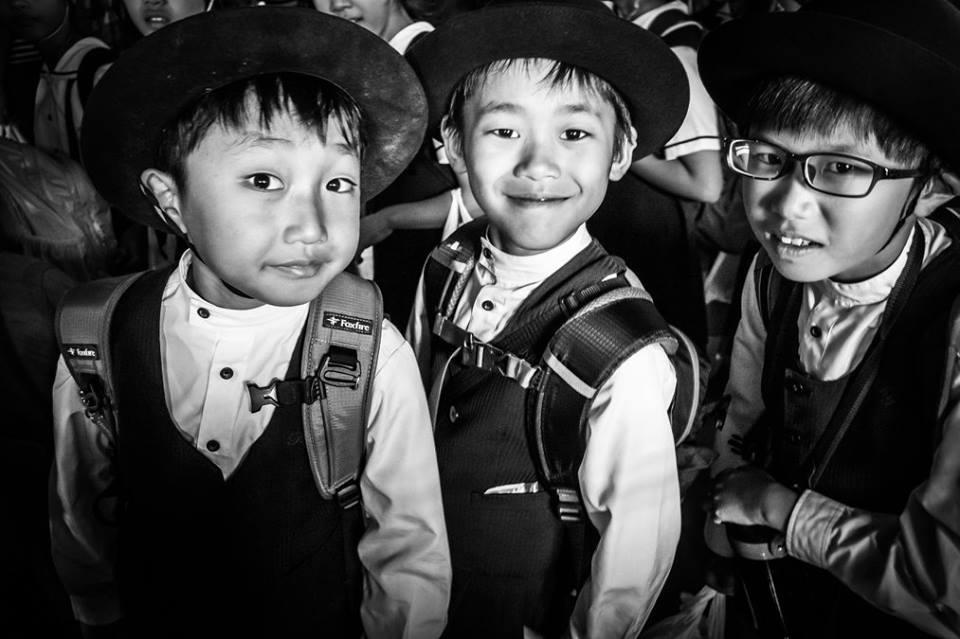 niños japonenes en la foto de eriu foto fotografo de san sebastin donostia