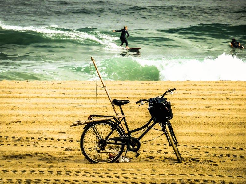 fotografia la playa de la zurriola de gros san sebastian eriu photo